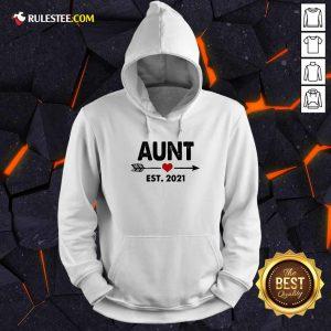 Aunt Est 2021 Heart Hoodie - Design By Rulestee.com