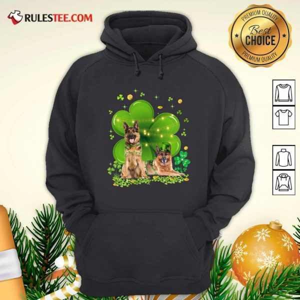 German Shepherd Shamrock St Patricks Day Hoodie - Design By Rulestee.com