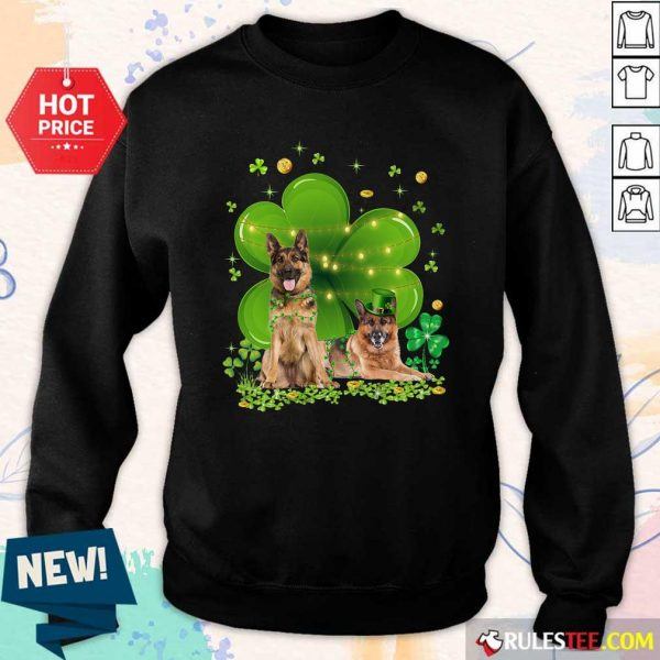 German Shepherd Shamrock St Patricks Day Sweatshirt - Design By Rulestee.com