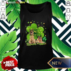 German Shepherd Shamrock St Patricks Day Tank Top - Design By Rulestee.com
