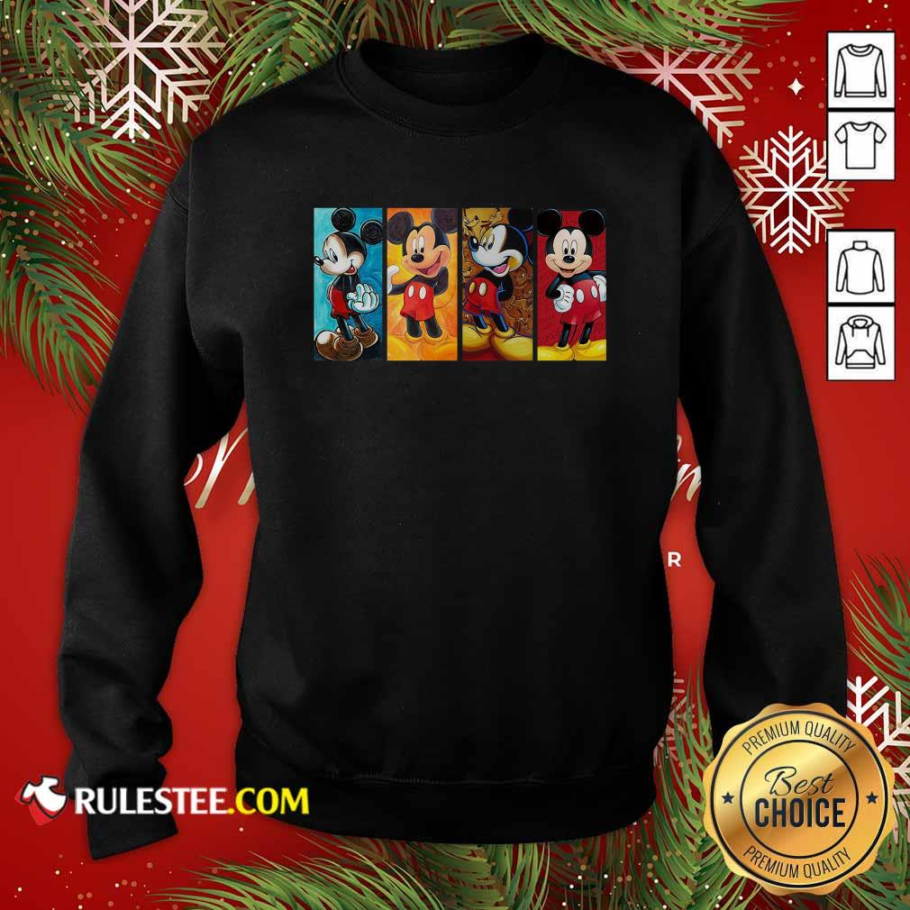 Mickey Mouse Be Strong Be Brave Be Humble Be Badass Sweatshirt - Design By Rulestee.com
