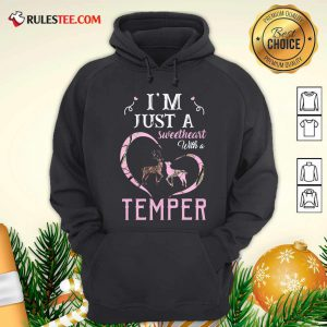 Reindeer Im Just A Sweetheart With A Temper Wallpaper Hoodie - Design By Rulestee.com