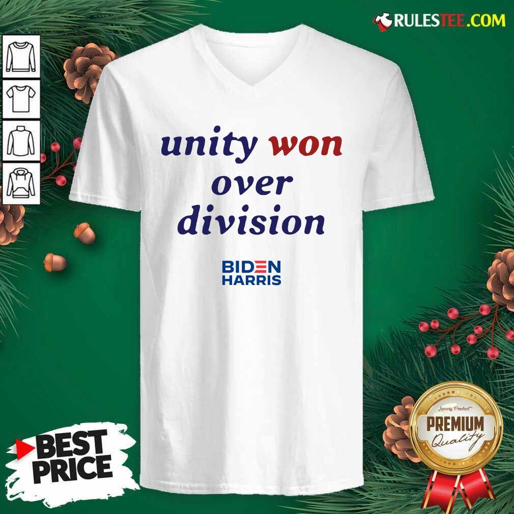Unity Won Over Division Biden Harris V-neck - Design By Rulestee.com