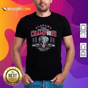 Alabama Crimson Tide Football 2020 National Champions 18 Years Shirt - Design By Rulestee.com