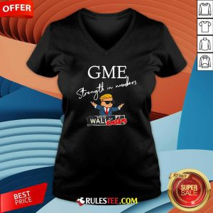 Donald Trump Gme Strength In Numbers V-neck - Design By Rulestee.com