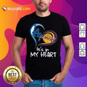 Los Angeles Dodgers And Los Angeles Lakers Its In My Heart Shirt- Design By Rulestee.com