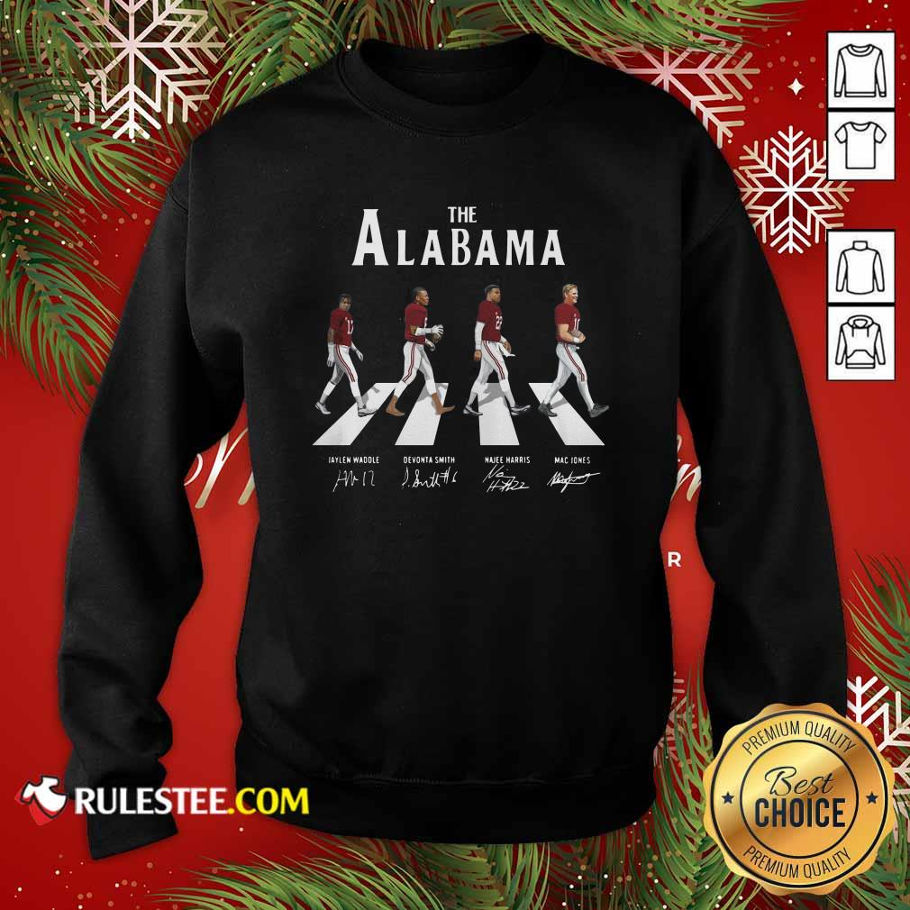 The Alabama Crimson Tide Abbey Road Signatures Sweatshirt - Design By Rulestee.com