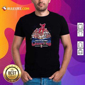 Alabama Crimson Tide Football Team Players 2020 Cfp National Champions Signatures Shirt - Design By Rulestee.com