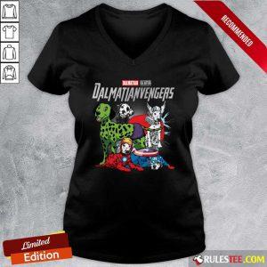 Dalmatian Marvel Avengers Dalmatianvengers V-neck - Design By Rulestee.com