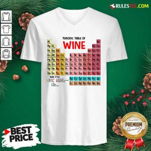 The Chemistry Periodic Table Of Wine V-neck - Design By Rulestee.com