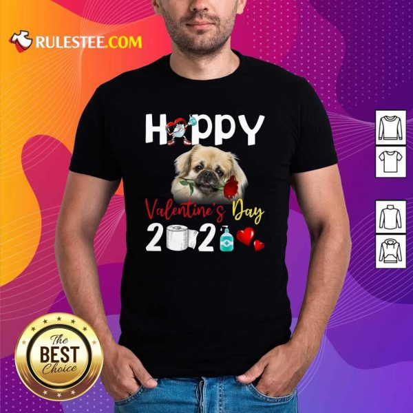 Tibetan Spaniel Happy Valentines Day With Toilet Paper 2021 Shirt - Design By Rulestee.com