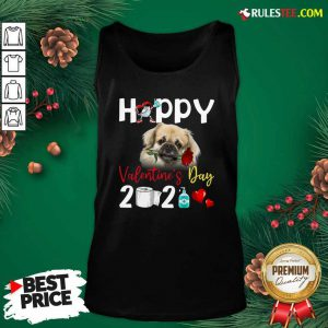 Tibetan Spaniel Happy Valentines Day With Toilet Paper 2021 Tank Top - Design By Rulestee.com