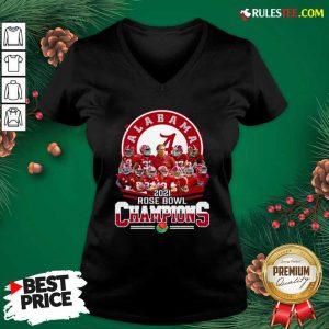 Alabama Crimson Tide 2021 Rose Bowl Champions V-neck - Design By Rulestee.com