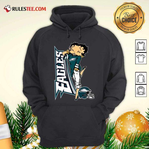 Betty Boop Philadelphia Eagles Football Hoodie - Design By Rulestee.com