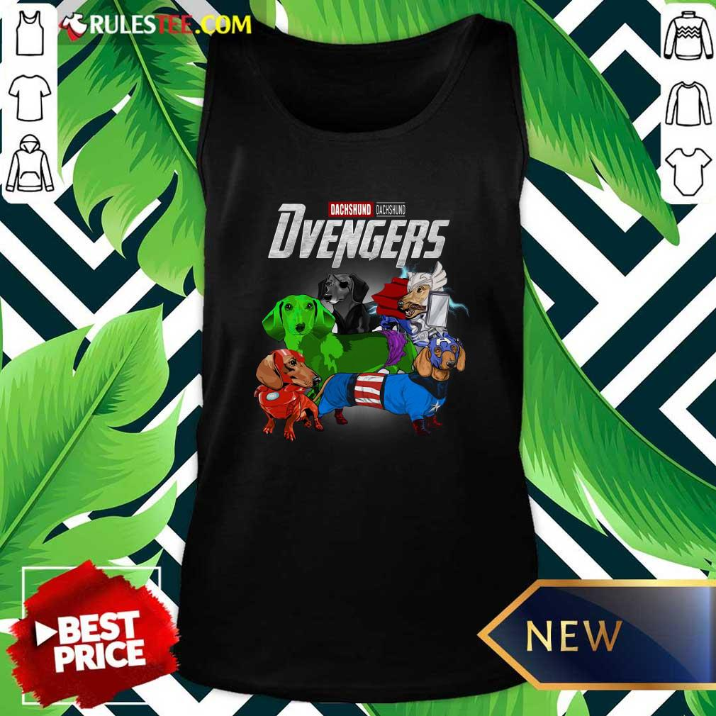 Dachshund Marvel Avengers Dvengers Tank Top - Design By Rulestee.com