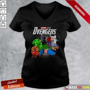 Dachshund Marvel Avengers Dvengers V-neck - Design By Rulestee.com