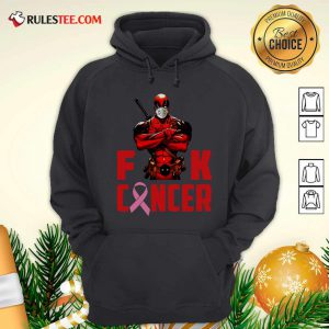 Deadpool Fuck Cancer Hoodie - Design By Rulestee.com