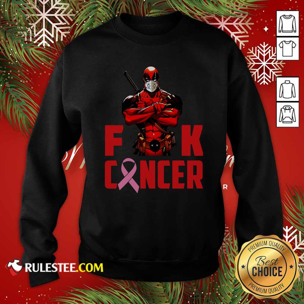 Deadpool Fuck Cancer Sweatshirt - Design By Rulestee.com