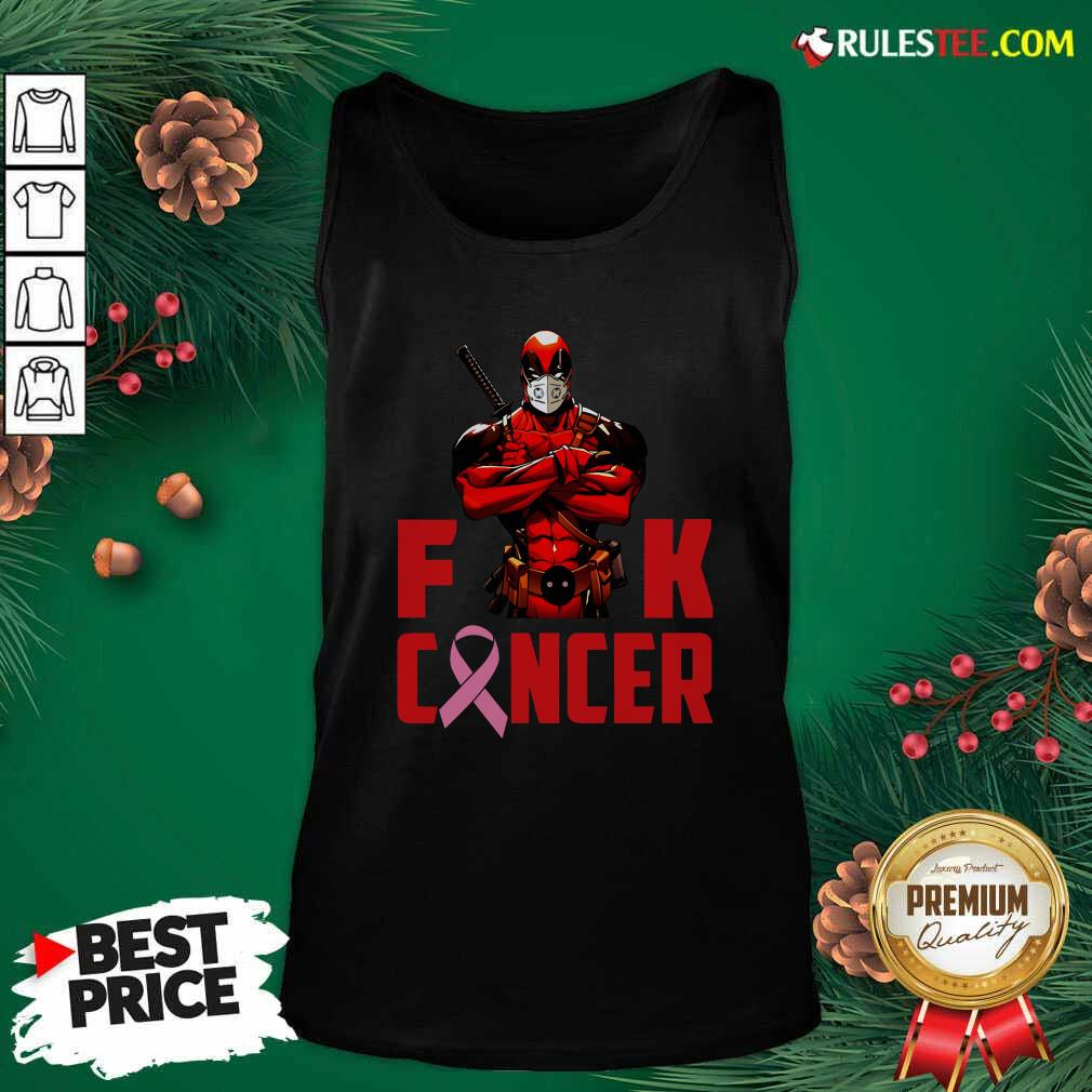 Deadpool Fuck Cancer Tank Top - Design By Rulestee.com