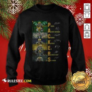 Green Bay Packers Jason Spriggs Aaron Rodgers Mason Crosby Signatures Sweatshirt - Design By Rulestee.com