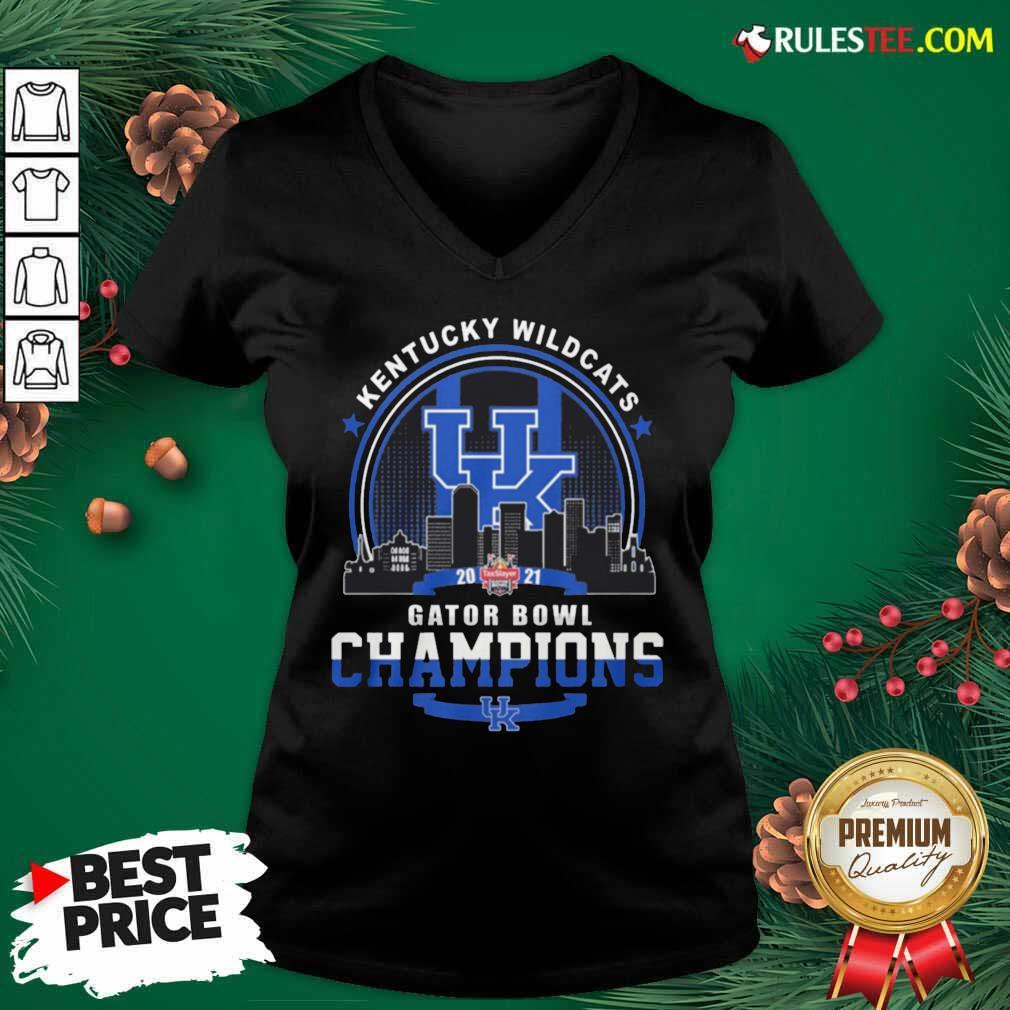 Kentucky Wildcats Gator Bowl Champion V-neck - Design By Rulestee.com