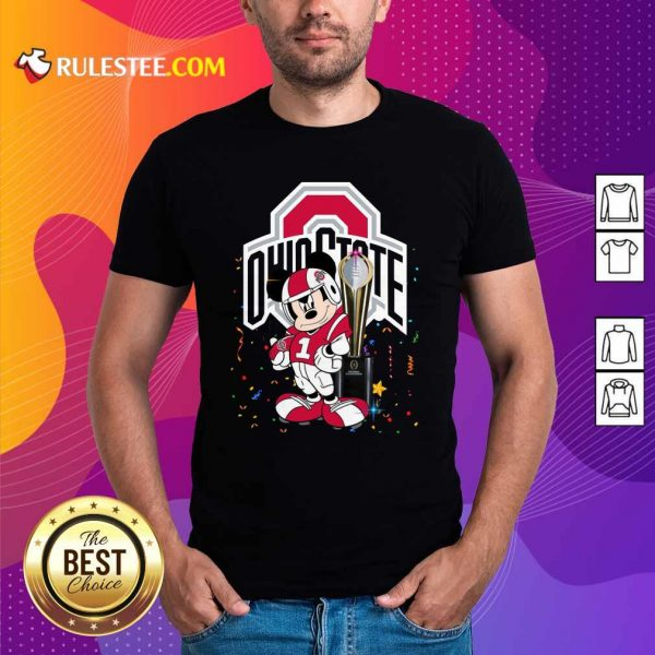 Mickey Mouse And Cup Ohio State Buckeyes Shirt - Design By Rulestee.com