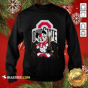 Mickey Mouse And Cup Ohio State Buckeyes Sweatshirt - Design By Rulestee.com