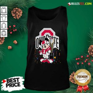 Mickey Mouse And Cup Ohio State Buckeyes Tank Top - Design By Rulestee.com