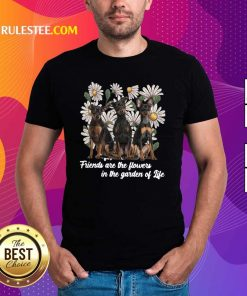 Miniature Pinscher Dogs Friends Are The Flowers In The Garden Of Life Shirt - Design By Rulestee.com