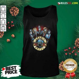 Skeleton Guns N Roses Rock Band Tank Top - Design By Rulestee.com