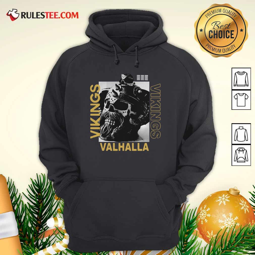 Vikings Yule Valhalla Hoodie- Design By Rulestee.com