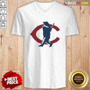 Chicago Bears North Side Home Run V-neck - Design By Rulestee.com