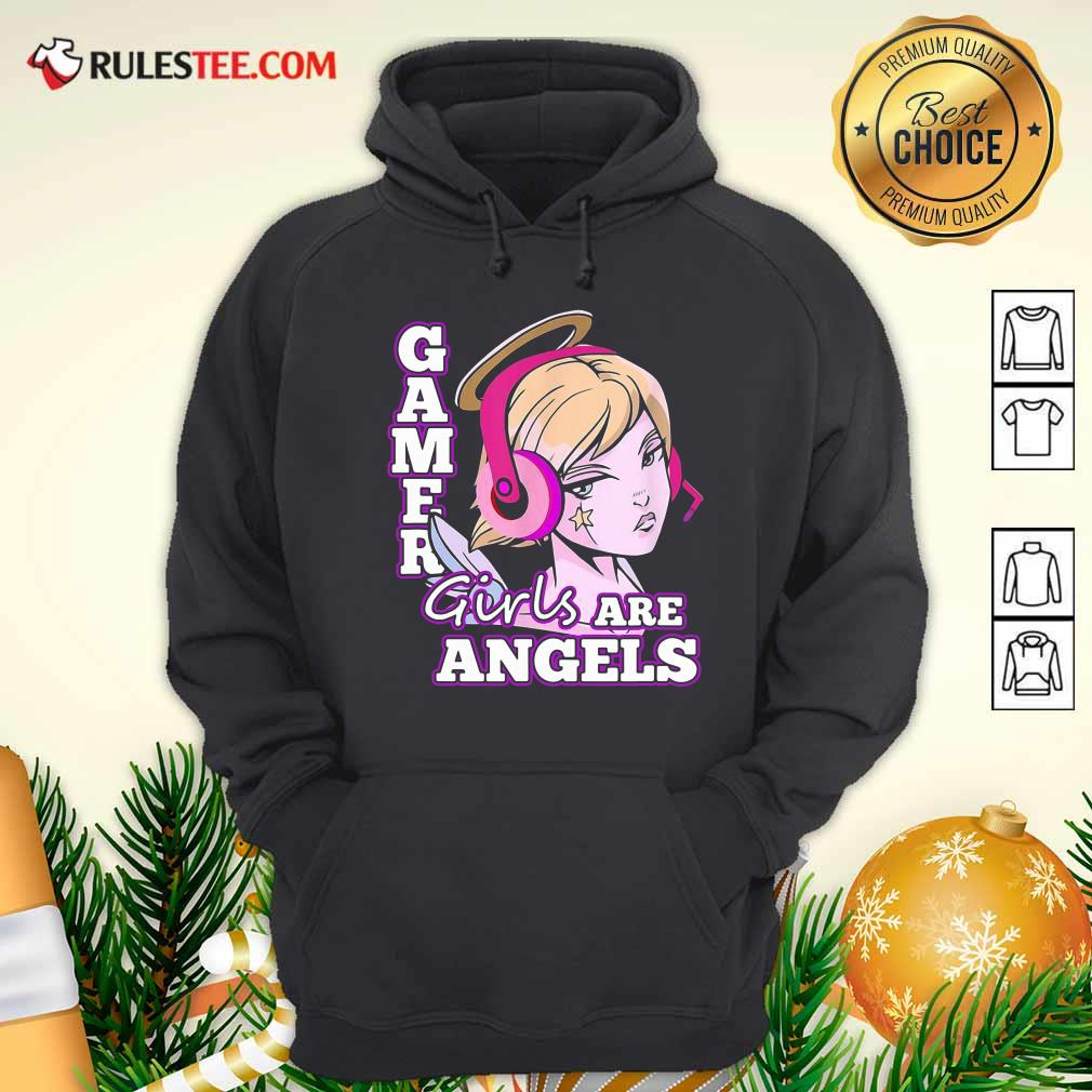 Gamer Girls Are Angels Hoodie - Design By Rulestee.com