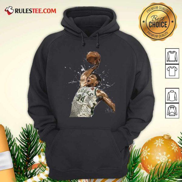 Giannis Antetokounmpo 34 Bucks Jersey Basketball Hoodie - Design By Rulestee.com