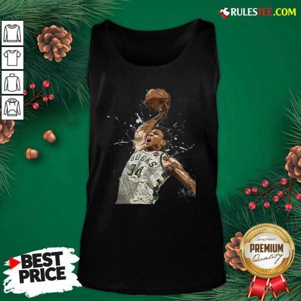 Giannis Antetokounmpo 34 Bucks Jersey Basketball Tank Top - Design By Rulestee.com