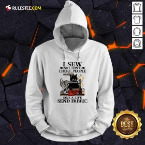 I Sew So I Dont Choke People Save A Life Send Fabric Black Cat Hoodie - Design By Rulestee.com