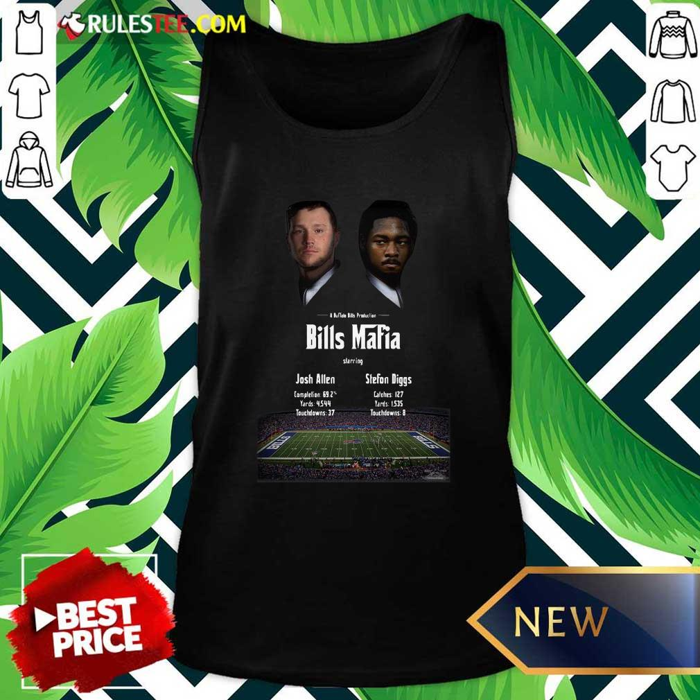 Josh Allen Vs Stefon Diggs In A Buffalo Bills Production Bills Mafia 2021 Tank Top - Design By Rulestee.com