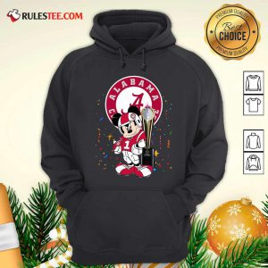 Mickey Mouse And Cup Alabama Crimson Tide Football Hoodie - Design By Rulestee.com