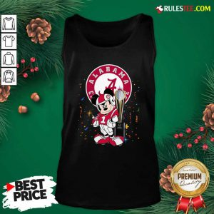 Mickey Mouse And Cup Alabama Crimson Tide Football Tank Top - Design By Rulestee.com