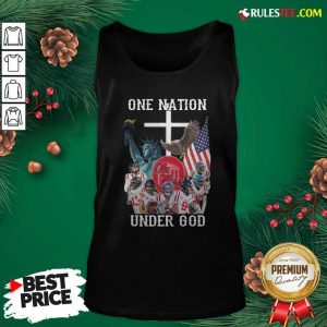 One Nation Under God Ole Miss Football American Flag Tank Top - Design By Rulestee.com
