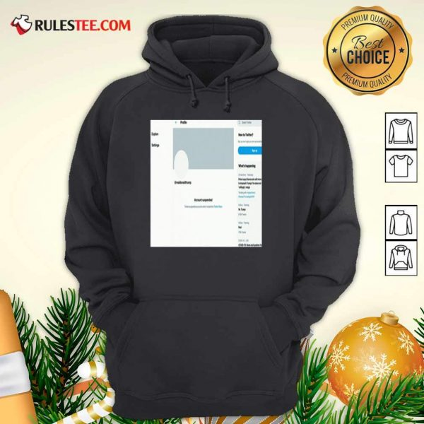 Donald Trumps Twitter Account Permanently Suspended Hoodie - Design By Rulestee.com