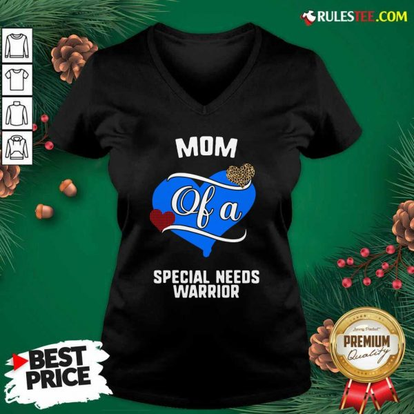 Perfect Mom Of A Special Needs Warrior Heart V-neck - Design By Rulestee.com