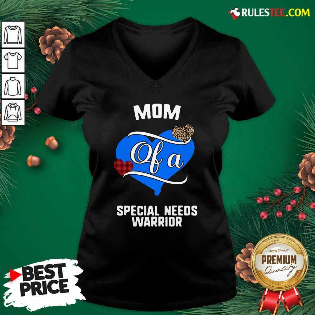 Mom Of A Special Needs Warrior Heart V-neck - Design By Rulestee.com