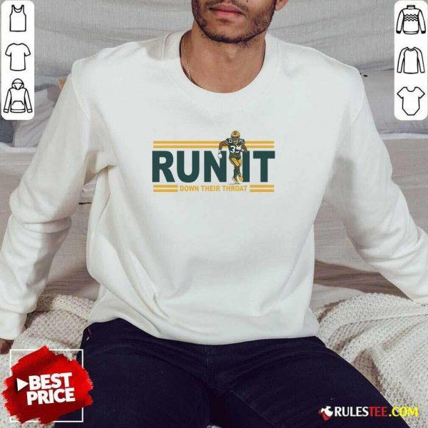 Aaron Jones Run It Down Their Throat Sweatshirt - Design By Rulestee.com