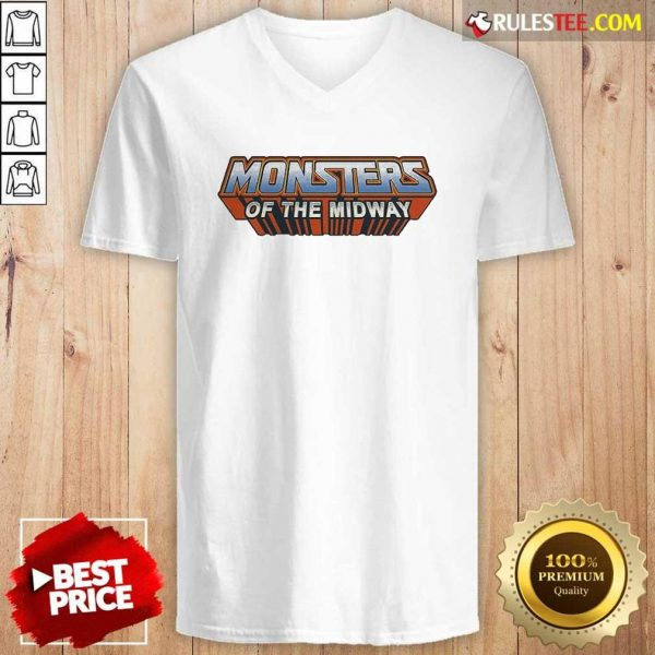 Chicago Bears Monsters Of The Universe V-neck - Design By Rulestee.com