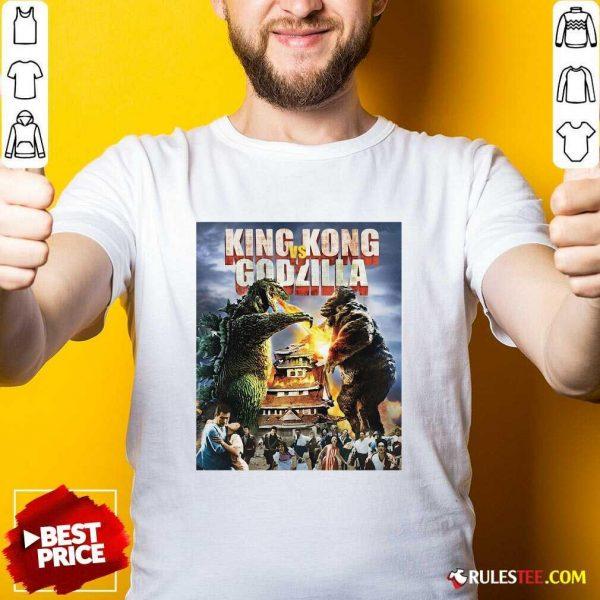 Kaiju Battle King And Kong Godzilla Shirt - Design By Rulestee.com