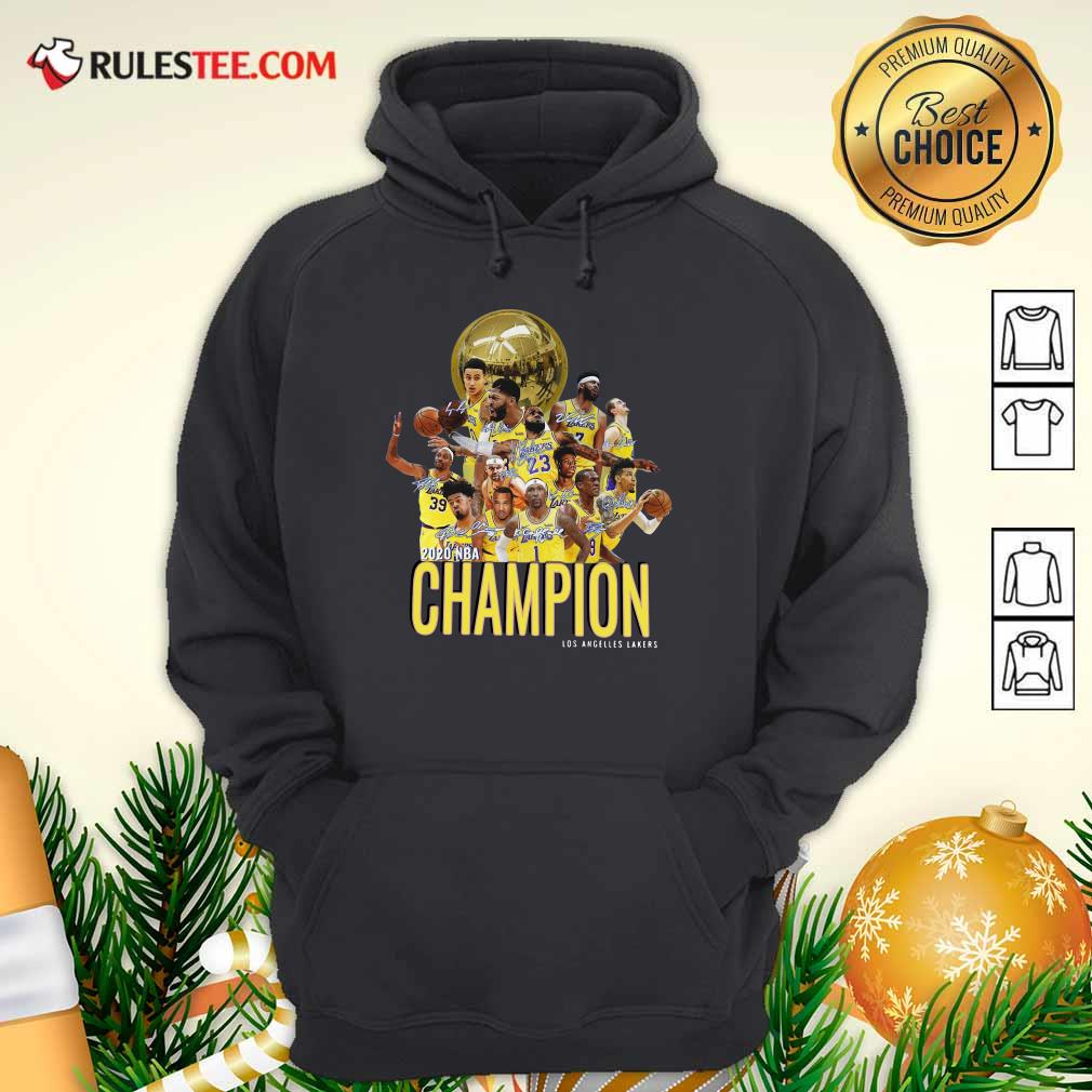 Los Angeles Lakers Champion 2020 NBA Signatures Hoodie - Design By Rulestee.com