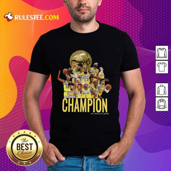 Los Angeles Lakers Champion 2020 NBA Signatures Shirt - Design By Rulestee.com