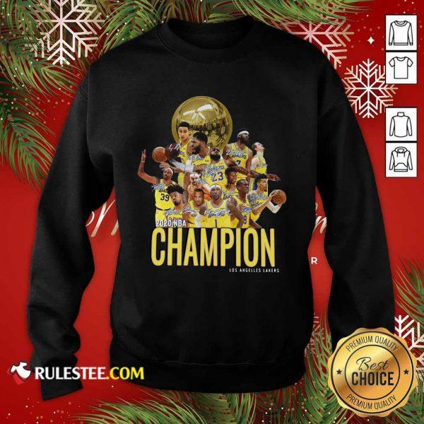 Los Angeles Lakers Champion 2020 NBA Signatures Sweatshirt - Design By Rulestee.com