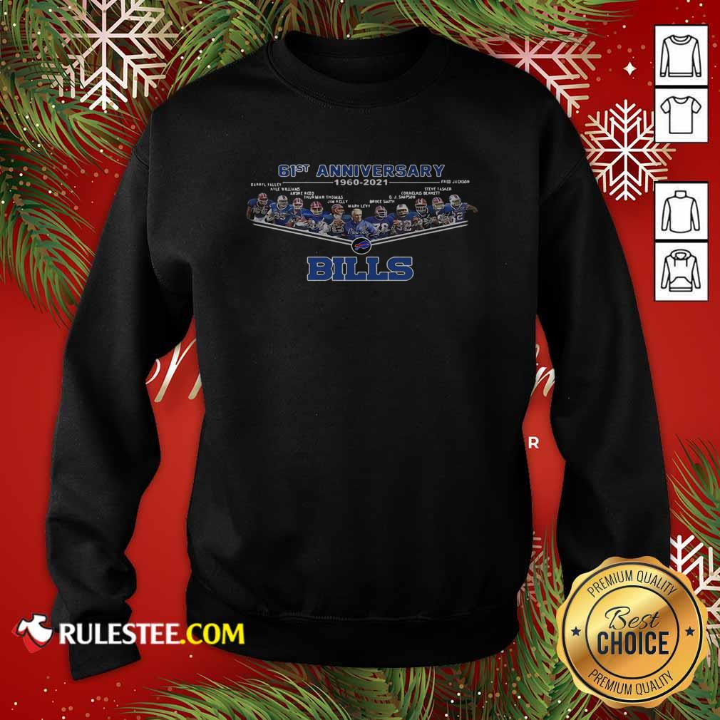 Buffalo Bills Football 61st Anniversary Sweatshirt - Design By Rulestee.com